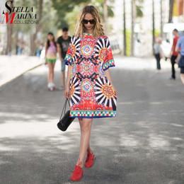Sundress Short Sleeves Australia - 2019 Summer Women Black Floral Printed Beach Dress Short Sleeve Girls Cute Straight Sundress Midi Sun Dresses Vestido Style 2162 Q190419