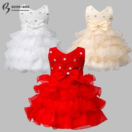 wedding dress cake images Australia - Fashion Tutu Ball Gown Sleeveless Lace Court Train Zipper Flower Girl Dresses Kids Pageant Cake skirt 3T-11T