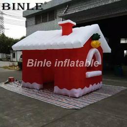 $enCountryForm.capitalKeyWord Australia - High quality outdoor inflatable christmas house large airblown inflatable christmas cabin santa grotto for holiday decoration