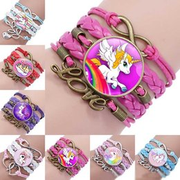 Jewelry & Accessories Flight Tracker Unicorn Horse Bracelet 18mm Glass Dome Cabochon Charm Silver Plated Chain Bangle For Women Men Best Gift
