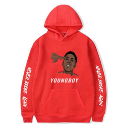 hottest clothing for women Australia - Harajuku Hoodies Hot Rapper YoungBoy Never Broke Again Sweatshirts Men Women Streetwear Clothes for Girls Boy Winter Clothing