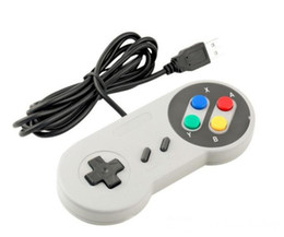 super tablet NZ - NEW Classic USB Controller PC Controllers Gamepad Joypad Joystick Replacement for Super Nintendo SF SNES NES Tablet PC LaWindows MAC
