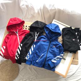 $enCountryForm.capitalKeyWord NZ - Children jacket set kids designer clothing hooded zipper jacket + trousers 2pcs autumn fashion models boys and girls long sleeve set