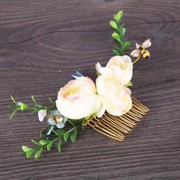 $enCountryForm.capitalKeyWord Australia - Wedding Bridal Hair Combs Vintage Gold Hairpins Prom Jewelry Simulation Flower Pattern Hair Accessories Pins Women