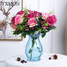$enCountryForm.capitalKeyWord Australia - Noble and pure 12 heads fake flowers Simulation flower snow mountain rose silk flower home hotel decoration simulation bouquet