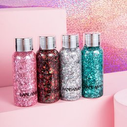 Eight Hair Australia - DHL free New Handaiyan Teras glitter body gel laser sequins 8 colors optionals for eye hair face lip and body in stock