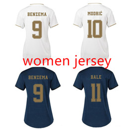 Wholesale Top real madrid Women soccer jerseys RAMOS MODRIC lady football shirt HAZARD KROOS ASENSIO jersey camisas de futebol
