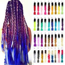 $enCountryForm.capitalKeyWord Australia - Kanekalon Braiding Hair Wholesale Ombre Jumbo Braiding Hair Xpression Crochet Braids Twist Two Tone Synthetic Heat Resistant Hair Extensions