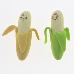 $enCountryForm.capitalKeyWord Australia - 2 Pieces New Lovely Cute Kawaii Rubber Korean Stationery School Supplies Banana Novelty Kid Gifts Fruit Pencil Eraser