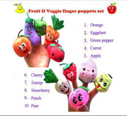 Used Toys Wholesale Australia - Fruit Vegetable Finger Puppets Story telling Doll Kids Children Baby Educational Toys RPG use Role play Toy Group