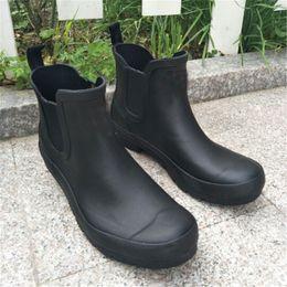 $enCountryForm.capitalKeyWord NZ - Designer Women Short Rainboots H Letter Candy Color Low heel Rain Boots Waterproof Soft Rubber Water Shoes Antiskid Short Rainshoes C8601