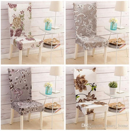 $enCountryForm.capitalKeyWord Australia - Floral Letter Dining Chair Cover Spandex Elastic Anti-dirty Slipcovers Protector Stretch Removable Hotel Kitchen Seat Case