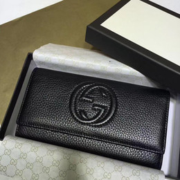 $enCountryForm.capitalKeyWord Australia - Top Quality 2019 Celebrity Design Letter Embossing Buckle Two Fold Wallet Cowhide Leather Woman 282414 Long Purse Clutch