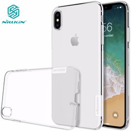 Nature Iphone Australia - Case for iphone XS Max NILLKIN Nature TPU Transparent soft back cover case for iphone xs max x xr 5 s se 6
