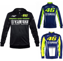 Wholesale zip hoody jackets online – oversize mens motorcycle hoodie racing moto riding hoody clothing jacket men jacket cross Zip jersey sweatshirts M1 yamaha Windproof coat