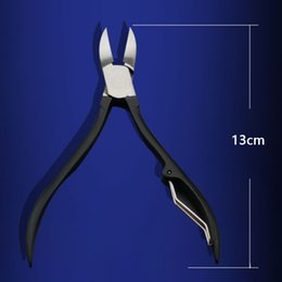 nail pedicure home Australia - 5Pcs Portable Tool Home Pliers Pedicure Knife Black Nail Care Durable High-carbon Steel Bag Nail File Travel Manicure Set