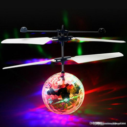 Toy Flying Helicopters NZ - Flying RC Ball Aircraft Helicopter Led Flashing Light Up Toy Induction Toy Electric Toy Drone For Kids Children
