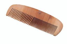 Jade Hair UK - Green sandalwood and natural jade sandalwood half moon without handle horn comb peach massage comb straight hair comb(16221409)