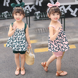 $enCountryForm.capitalKeyWord Australia - Korean 2pcs Set Cute Baby Girls Clothing Outfits Fashion Summer 2019 Floral Printing Ruffles Tops + Shorts Suit Toddler Infant Kids Clothes