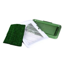 indoor pad 2019 - 3 Layers Large Dog Pet Potty Training Pee Pad Mat Puppy Tray Grass Toilet Simulation Lawn For Indoor Potty Training Pet