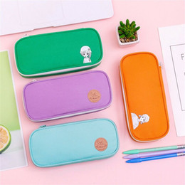 wholesale large pens Australia - Pencil Case Kawaii Large Capacity Pencilcase School Pen Case Supplies Pencil Bag School Box Pencils Pouch Bags