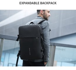oxford style man bag Australia - Mark Ryden Man Backpack Fit 17 inch Laptop USB Recharging Multi-layer Space Travel Male Bag Anti-thief Mochila