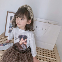 60ecad870 Spring and Autumn New Arrival korean style cotton fashion letters printed  all-match long sleeve t-shirt for cute sweet baby girl