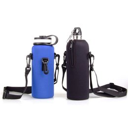Wholesale Hot Sports Drink Water Bottle Protector Cover Bag Durable Portable Zipper Water Bottle Pouch Holder Carrier With Adjustable