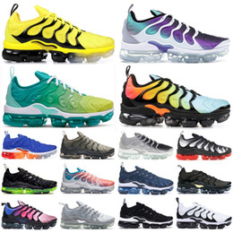 Wholesale lemon top for sale - Group buy Top Quality Tn PLUS Rainbow Persian Violet Lemon Lime stylist Shoes For Men Overbranding Triple Black Game Royal Women Running Sneakers