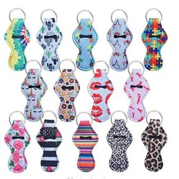 EN STOCK! Gratuit FedEx 59 couleurs modèle Lily impression porte-baguettes porte-clés Lily sirène Sac à lèvres Couleurs monogramme multi chaîne à chevrons
