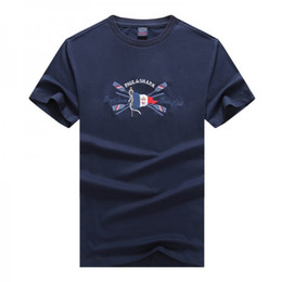 T shirT embroidery designs applique online shopping - NEW Luxury Shark Brand design Short Sleeve Men s T shirts P1914 Fashion Italy P S casual style PSY Summer Business cotton Yacht Club T