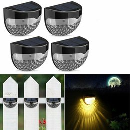 Wholesale Solar Step Light Outdoor Garden Lighting LED Beads Security Wall Lamp Fence Stair Deck Path Lights for Home Decor MMA1351