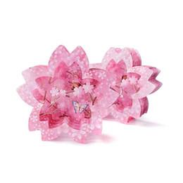 $enCountryForm.capitalKeyWord UK - 1pc Hollow Lace Cherry Blossom Shape Lace Wedding Invitation Card Party Envelope Greeting Card Party Wedding Stationery Gift