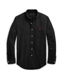 $enCountryForm.capitalKeyWord Australia - New spring and autumn men's high quality business fashion classic T-shirt men's Oxford fabric embroidery long sleeve polo shirt