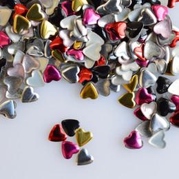 $enCountryForm.capitalKeyWord NZ - 1000pcs pack Mix 5 Colors Heart 3d Nail Art Glitter Diy Rivet Studs Beauty Diy Sticker Decorations Valentine Decor Nc218