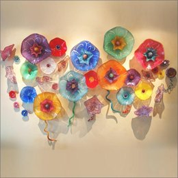 $enCountryForm.capitalKeyWord Australia - 2019 New Arrival Hand Blown Glass wall plates Customized Colored Handmade Blown Murano Glass wall art Made in China for Hotel Decor