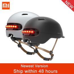 $enCountryForm.capitalKeyWord Australia - Original Xiaomi Smart4u Waterproof Cycling Bicycle Helmet Intelligent Men Women kids Bike Helmet Back LED Light For Bike Scooter