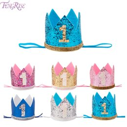 $enCountryForm.capitalKeyWord NZ - FENGRISE My First Birthday Party Hats Princess Crown Boy Girl I AM ONE Happy 1st Birthday Party Decorations Kids Anniversary