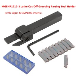 $enCountryForm.capitalKeyWord Canada - 10pcs MGMN300 Inserts + MGEHR1212-3 Lathe Cut-Off Grooving Parting Tool Holder Wrench Turning Tool Set Wood Metalworking Kit