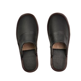 men cow genuine leather slippers NZ - 100% Cow Leather Handmade Men Home Slippers 2020 New Spring Slip On Soft Comfortable Black Brown Genuine Leather House Shoes