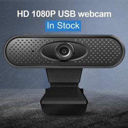 built computers Canada - webcam 1080p pc High Definition computer cameras with Built-in HD microphone Clip-on Digital Video Webcamera webcam full hd
