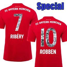 93c9621afd0 Special Font with #7 RIBERY #10 ROBBEN Bayern Soccer Jerseys 19 20 Bayern  Munich Soccer Shirts #13 RAFINHA Football Uniforms Drop shipping