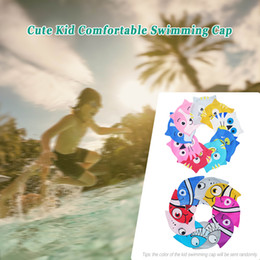 $enCountryForm.capitalKeyWord Australia - Children Kid Swimming Cap Silicone Ultra Stretch Summer Waterproof Comfortable Cartoon Cat Shape Hat for Girl and Boy 2019