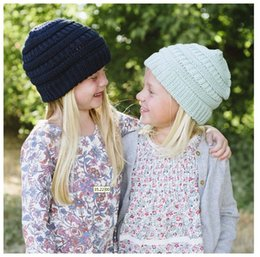 370dfc6de4a Girls Boys CC Pom Pom Beanies Children Knitted Hats Warm Kids CC Label  Beanies Unisex Casual Winter Cap Outdoor Crochet Hat Party Favor