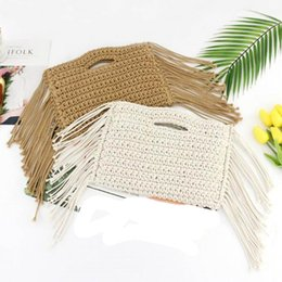 $enCountryForm.capitalKeyWord Australia - Summer Women Straw Handbags Girls Knitting Tassel Tote Day Clutches Bohemian Clutch Beach Woven Flap Hand Bags Bolsa #298333