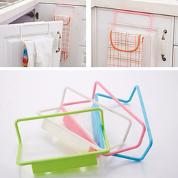 clear shoe storage boxes wholesale NZ - Kitchen Towel Holder Bathroom Towel Hanger Towel Rack Kitchen Cupboard Hanger Sponge Holder Storage Rack for Bathroom Storage