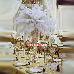 Flower Vases For Table Decorations Australia - European style gold silver crystal acrylic beaded wedding centerpieces flower vases table decor for wedding event party decoration