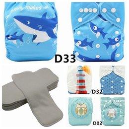 One Size Diaper Australia - Baby Cloth Diapers Washable Pocket Nappy, 3pcs Cloth Diapers+3 Inserts+3pcs Bamboo Inserts,Boy Color one Size fit well