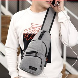 Single Shoulder Strap Packs Australia - Male Shoulder Bag USB Charging Crossbody Bags Men Anti Theft Chest Pack School Short Trip Messengers Bag Single Strap Back Bag