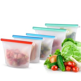 $enCountryForm.capitalKeyWord Australia - 1000ML Reusable Silicone Thick Storage Bags, FDA Food Grade PEVA Ziplock Bags, Leakproof and Fresh for Snacks, Fruits, Lunch Dishwasher Safe